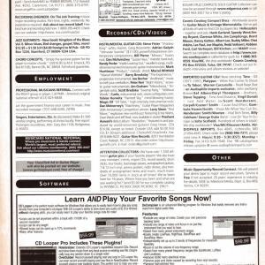 Guitar World Ad, January 1999