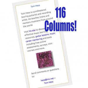 Tom Hess - 116 Columns