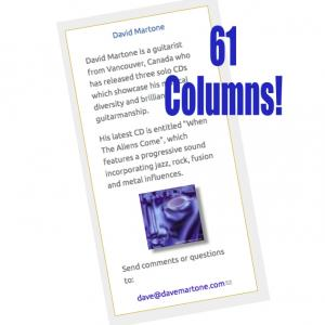 David Martone - 61 Columns