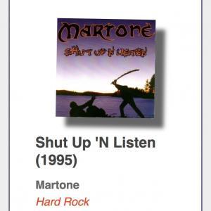"""#2: Martone """"Shut Up `N Listen"""""""