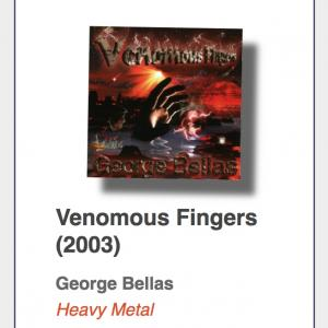"#8: George Bellas ""Venomous Fingers"""
