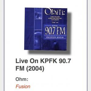 "OHM: ""`Live` On KPFK 90.7 FM"""